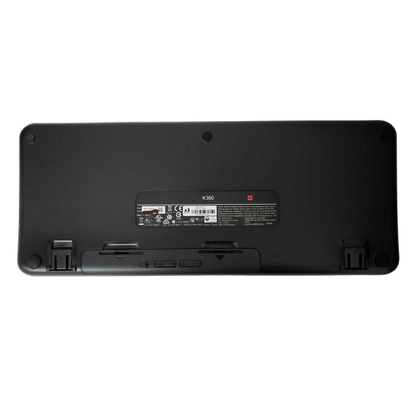 Logitech Keyboard QWERTY Wireless K360
