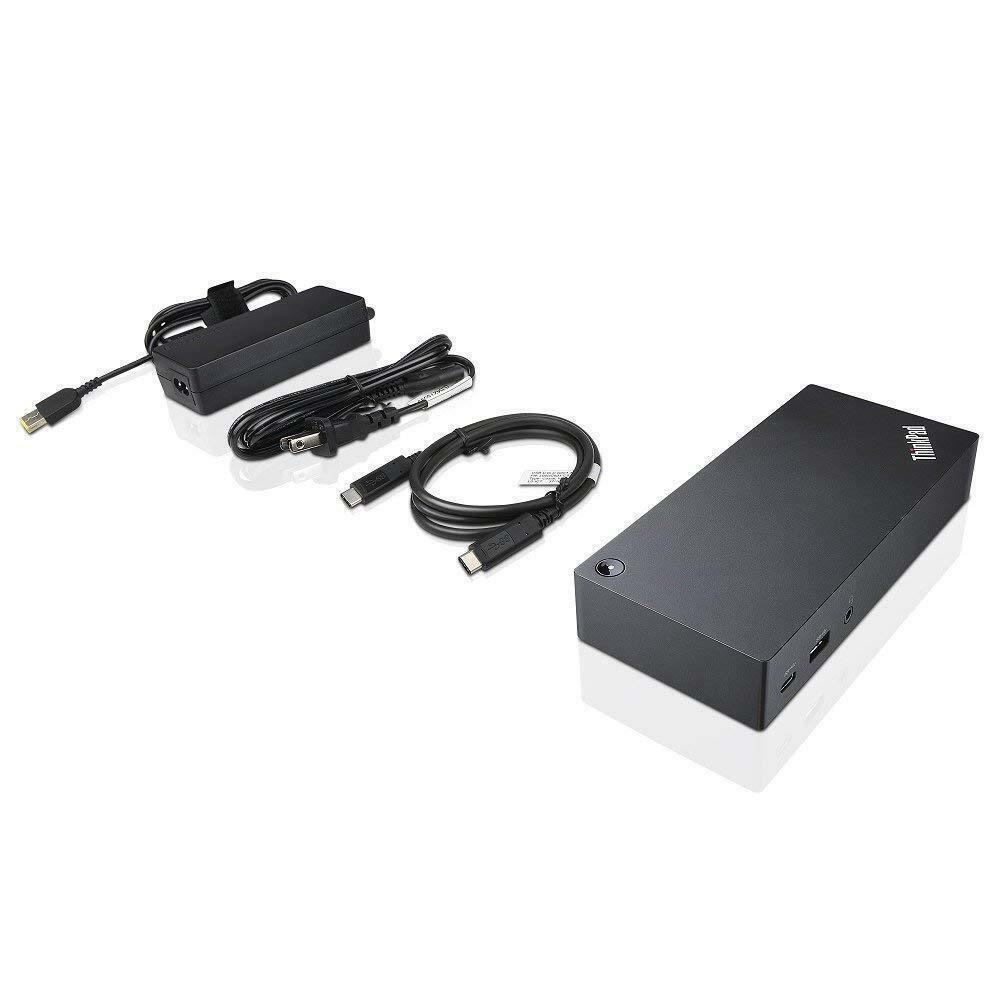 Lenovo Thinkpad 40A90090US USB Type-C Dock Station - Black