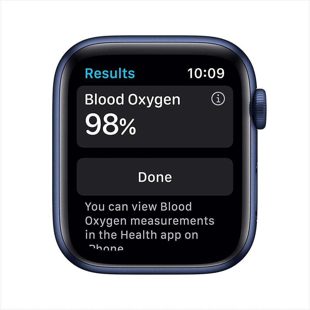 Apple Watch (Series 6) September 2020 44 mm - Aluminium Blue - Sport Band Deep Navy