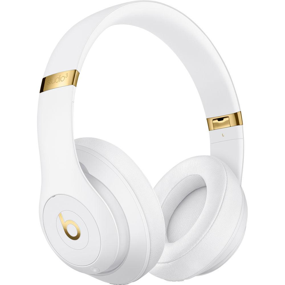 Beats By Dr. Dre Studio3 Headphone Bluetooth - White/Gold