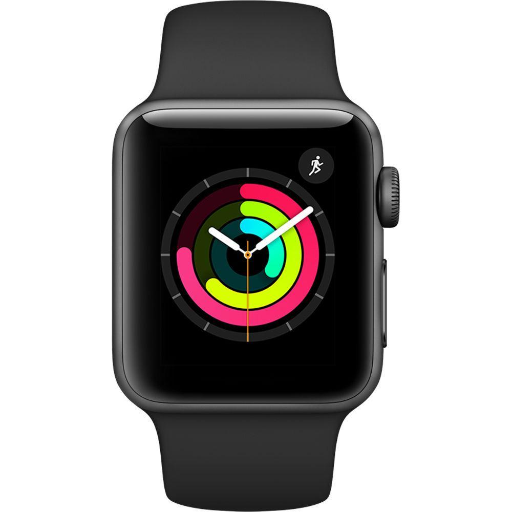 Apple Watch (Series 3) 38 mm - Aluminium Space Gray - Sport Band Black
