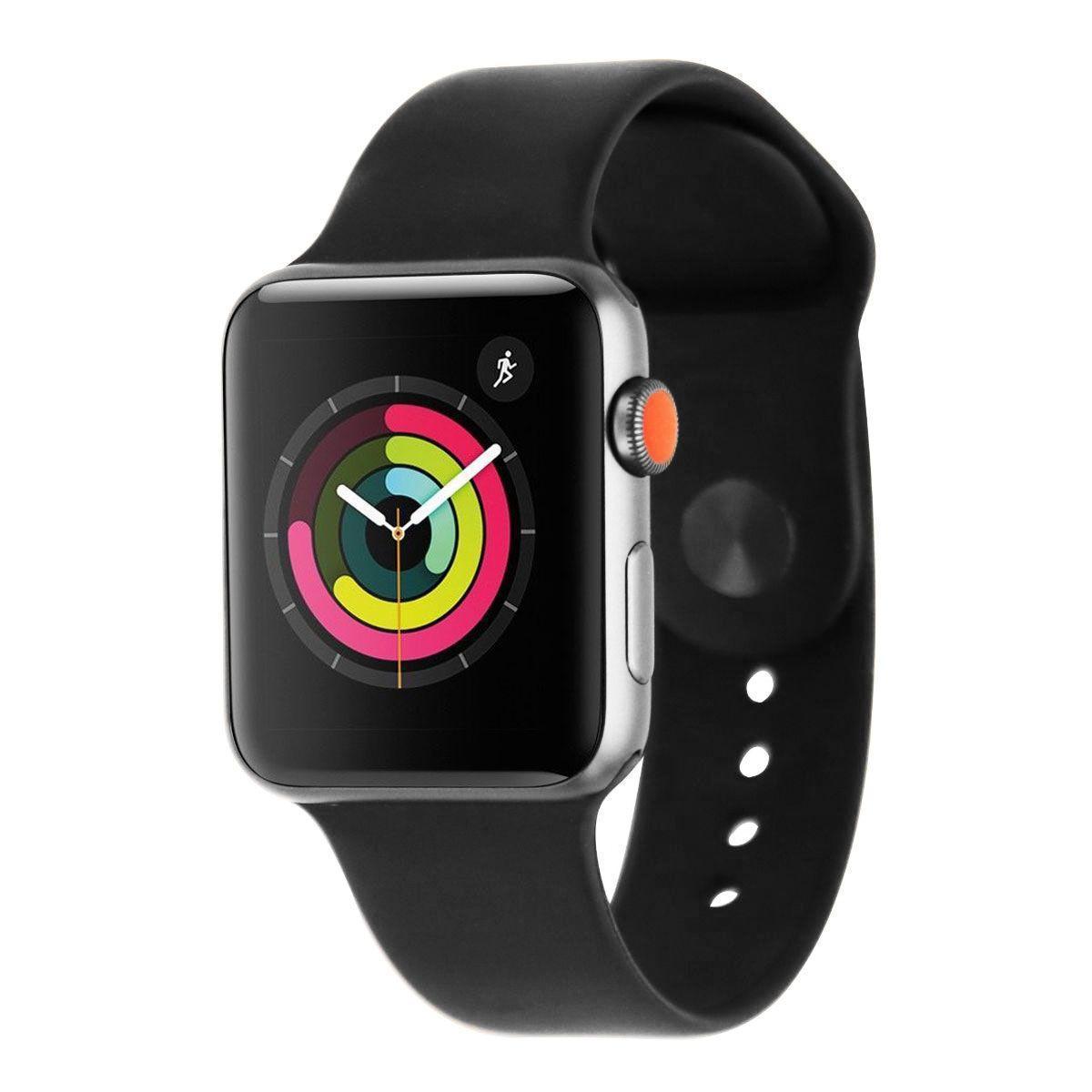 Apple Watch (Series 3) 42 mm - Aluminium Space Gray - Sport Band Black