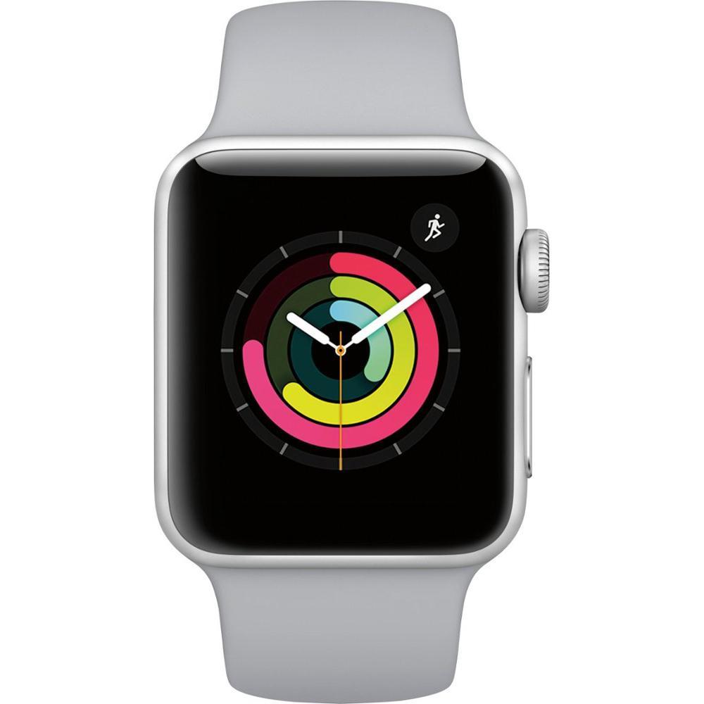 Apple Watch (Series 3) September 22, 2017 38 mm - Aluminium Silver Aluminum - Sport Band Silver