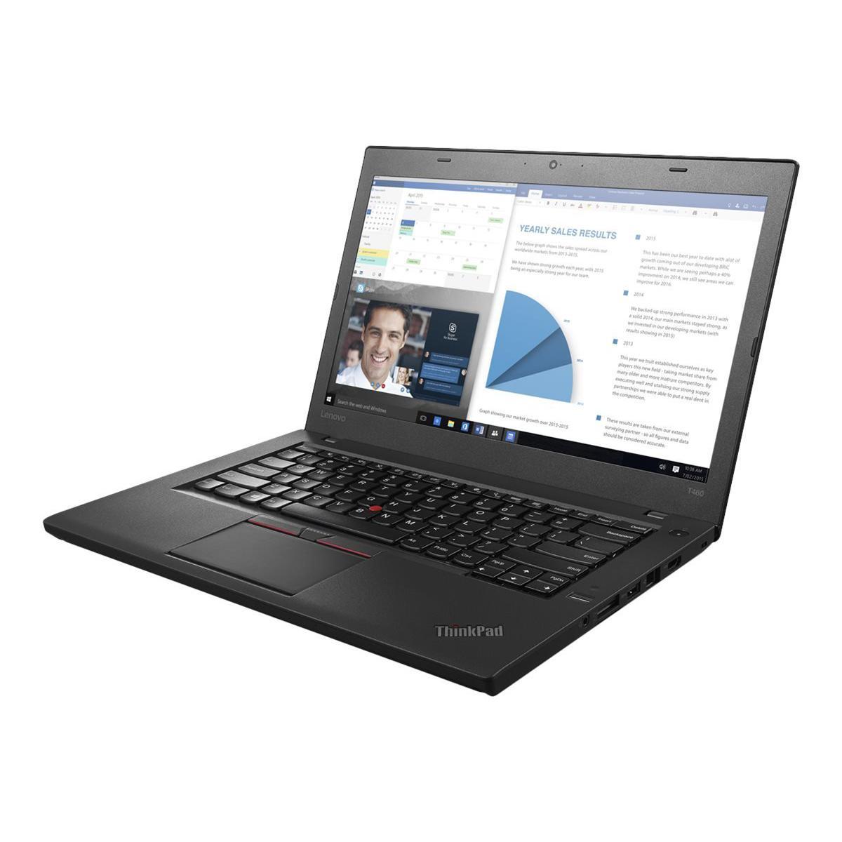 Lenovo ThinkPad T460 14-inch (2016) - Core i5-6300U - 8 GB  - SSD 180 GB