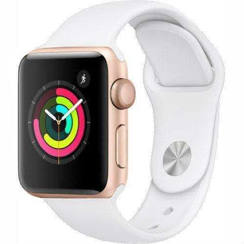 Apple Watch Series 2 38mm Gold Aluminum Case - White Sport Band