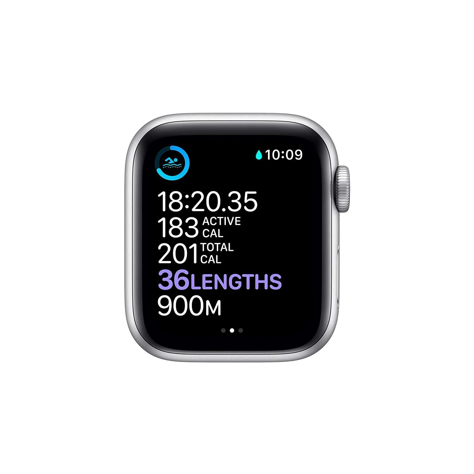 Apple Watch (Series 6) September 2020 44 mm - Aluminum Silver - White Sport Band White