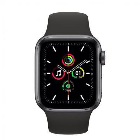 Apple Watch (Series SE) September 2020 44 mm - Aluminum Black - Sport Band Black