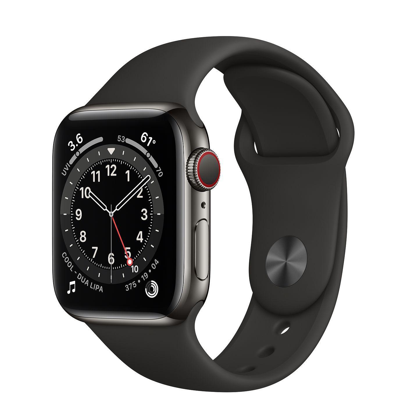 Apple Watch (Series 6) September 2020 40 mm - Aluminium Space gray - Sport Band Black
