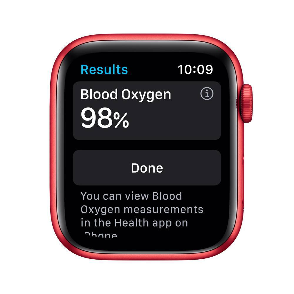 Apple Watch (Series 6) September 2020 44 mm - Aluminum Red - Sport Red