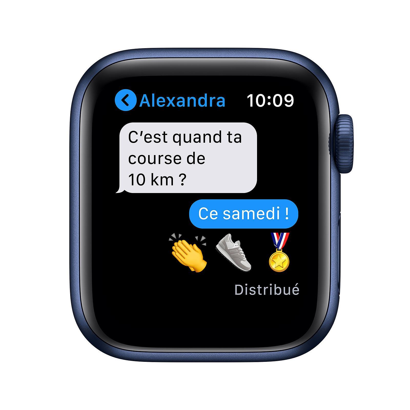 Apple Watch (Series 6) September 2020 40 mm - Aluminum Blue - Sport Deep navy