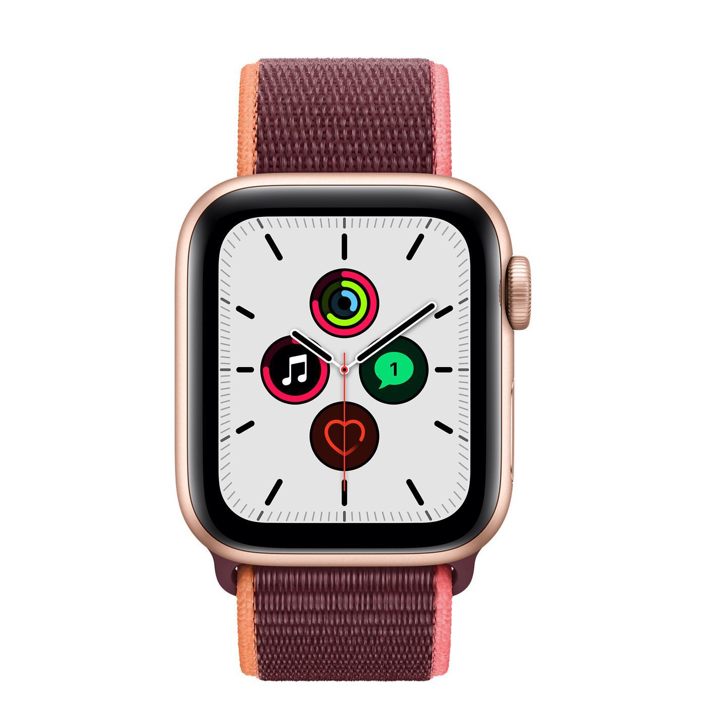 Apple Watch (Series SE) September 2020 40 mm - Aluminium Gold - Sport Loop Plum