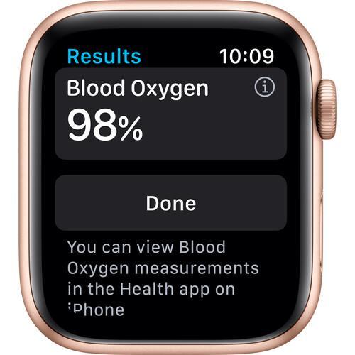 Apple Watch (Series 6) September 2020 44 mm - Aluminium Gold - Sport band Pink sand