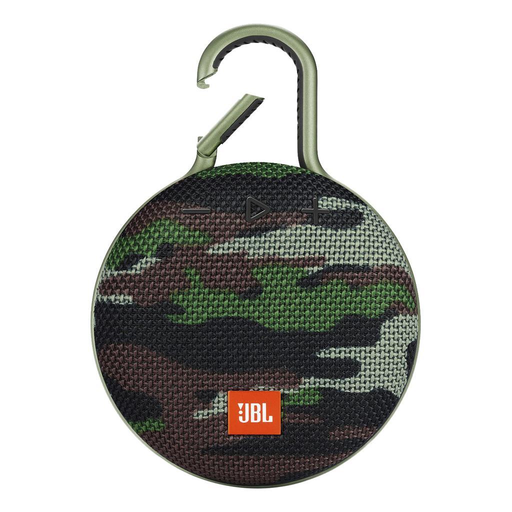 JBL Clip 3 Bluetooth Speakers - Camo