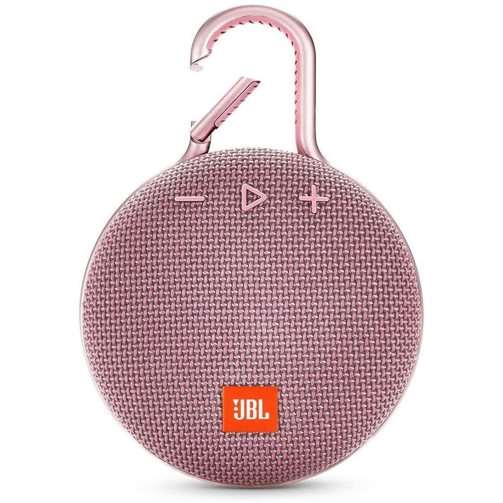 JBL Clip 3 Bluetooth Speakers - Pink
