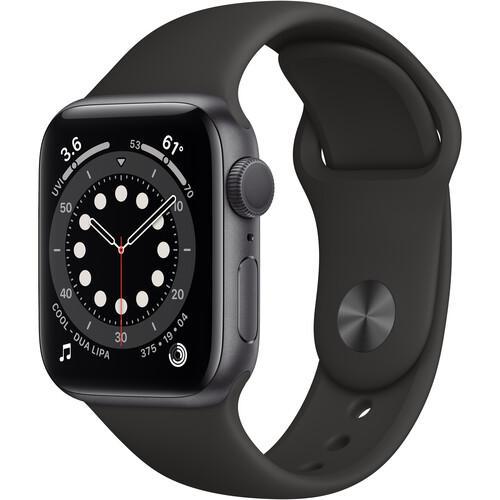 Apple Watch (Series 6) September 2020 44 mm - Aluminium Space Gray - Sport Black
