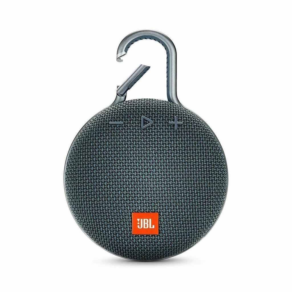JBL Clip 3 Bluetooth Speakers - Blue/Gray