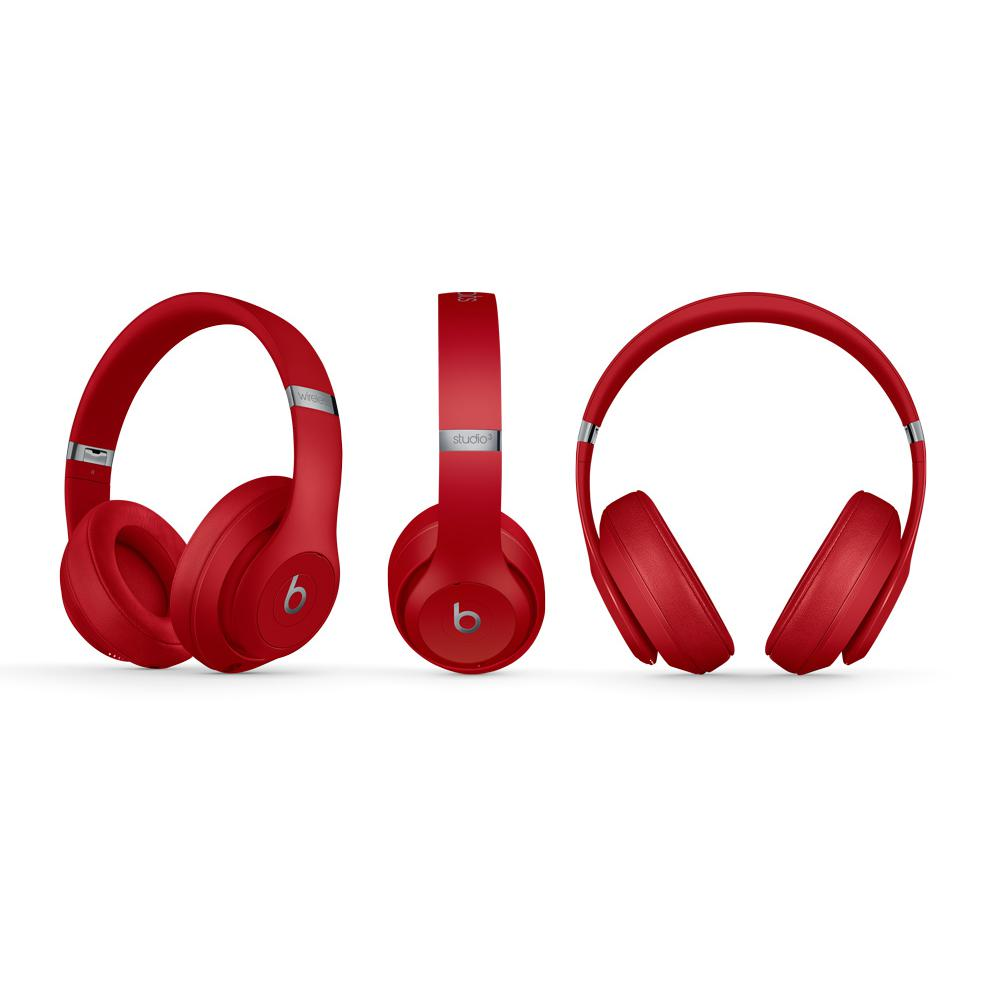 Beats By Dr. Dre Studio 3 Wireless Noise cancelling Headphone Bluetooth with microphone - Red