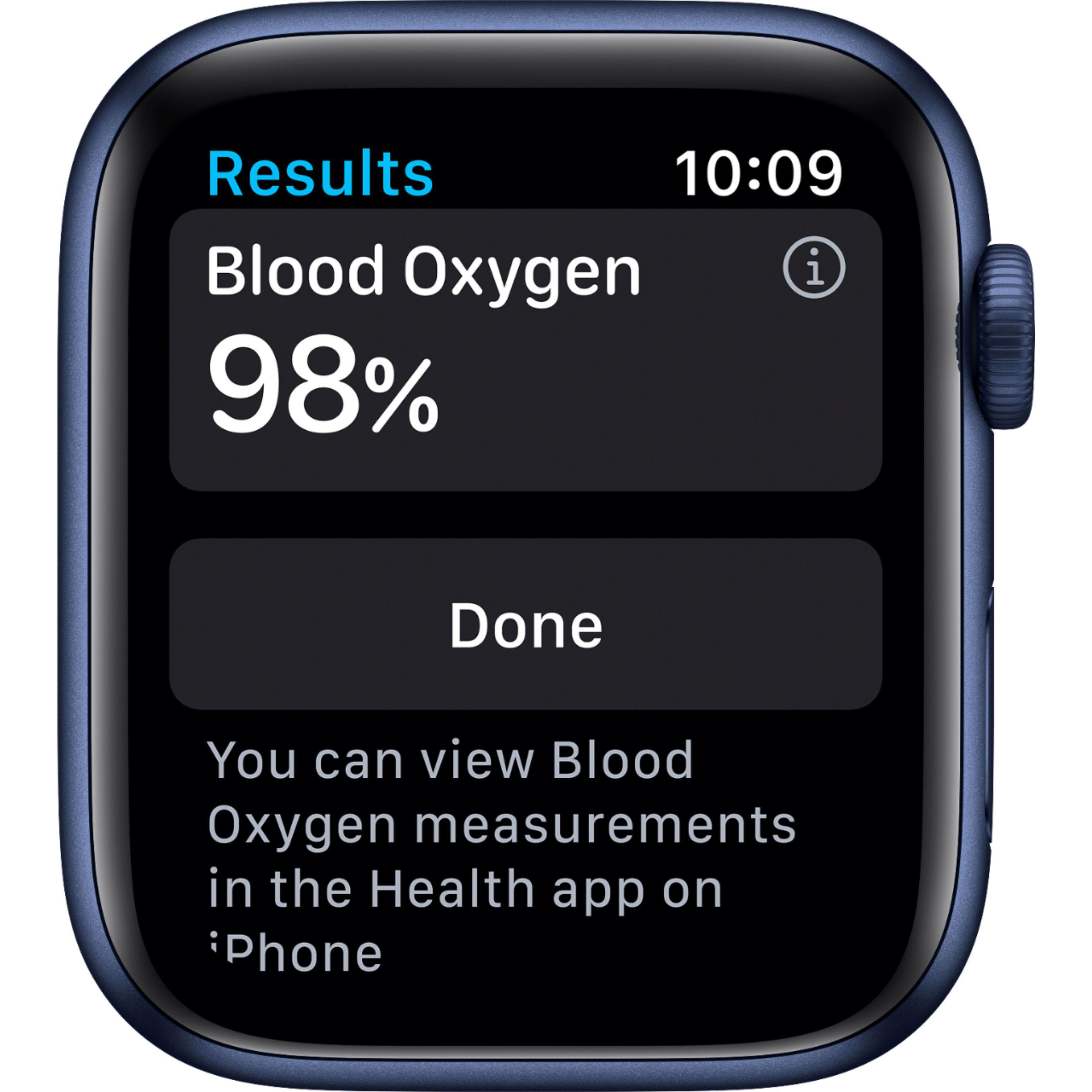 Apple Watch (Series 6) 44 mm - Aluminum Blue - Sport Blue