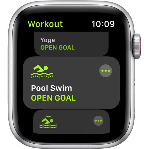 Apple Watch (Series SE) September 2020 40 mm - Aluminum Silver - Silicone White