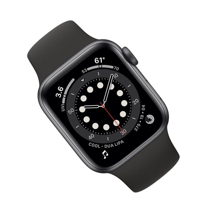 Apple Watch (Series 6) September 2020 40 mm - Aluminum Space Gray - Sport Band Black