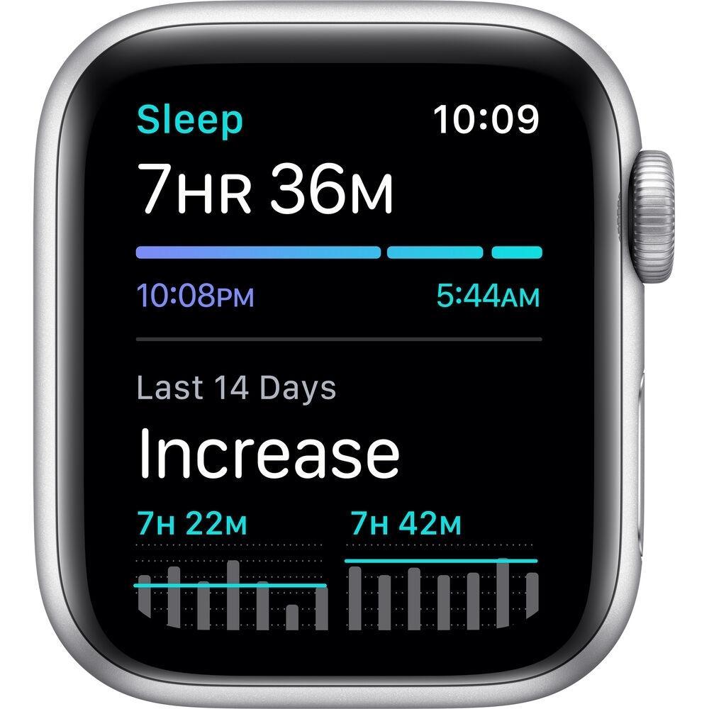 Apple Watch (Series SE) September 2020 40 mm - Aluminum Silver - Sport loop White