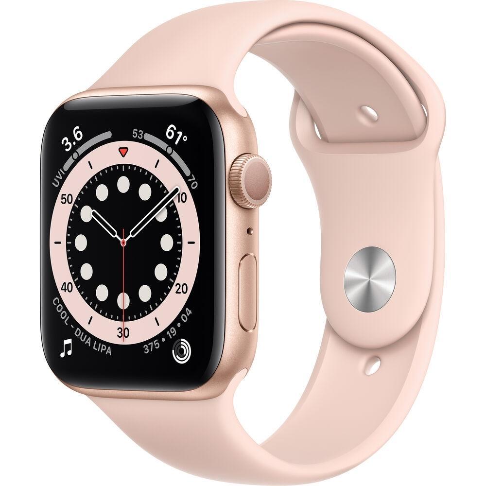 Apple Watch (Series 6) September 2020 40 mm - Aluminum Gold - Sport Band Pink