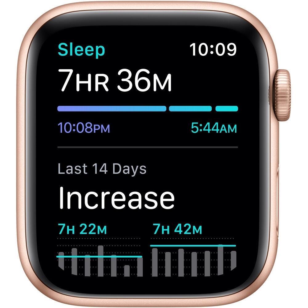 Apple Watch (Series SE) September 2020 44 mm - Aluminum Gold - Sport Band Pink Sand