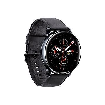 Samsung Galaxy Watch Active2 SM-R835U 40 mm - Stainless Steel Black - Leather Black Strap
