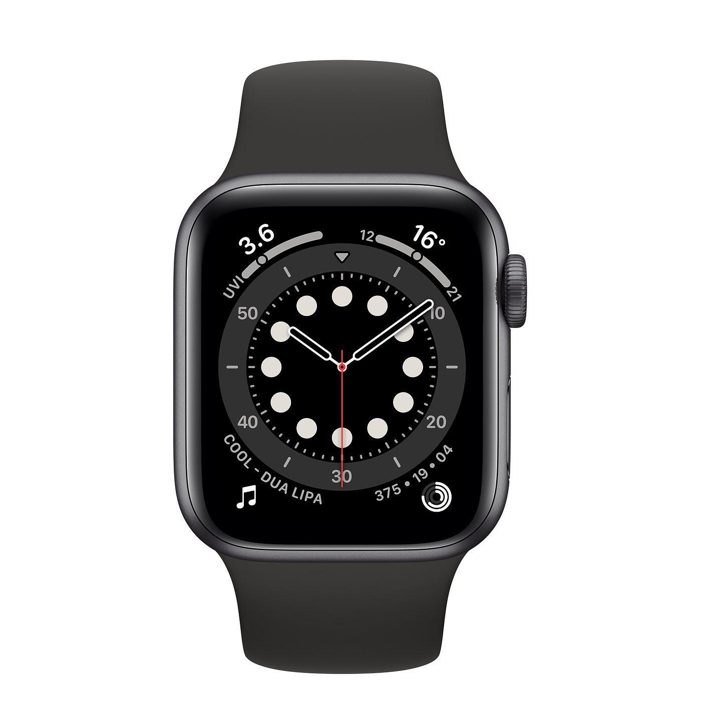 Apple Watch (Series 6) September 2020 44 mm - Aluminium Space gray - Sport Band Black