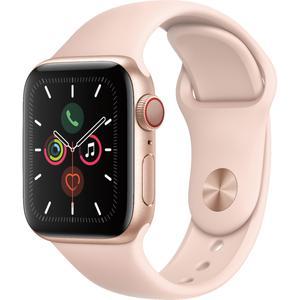 Apple Watch (Series 5) September 2019 44 mm - Aluminum Gold - Sand Sport Band Pink Sand