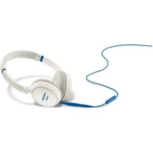 Headphones  Noise Reducer with Micro Bose On-Ear LE - Blue / White