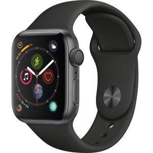Apple Watch (Series 4) 44mm - Space Gray Aluminium Case - Black Sport