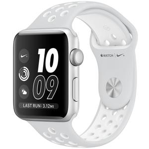 Apple Watch (Series 2) 42 mm  Nike Edition - Aluminum Silver - White Sport Band