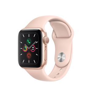 Apple Watch (Series 5) 44mm Rose Gold Aluminum Case - Pink Sand Sport Band