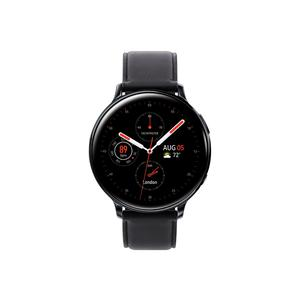 Galaxy Watch Active 2 44 mm - Stainless Steel Black - Leather Black Strap