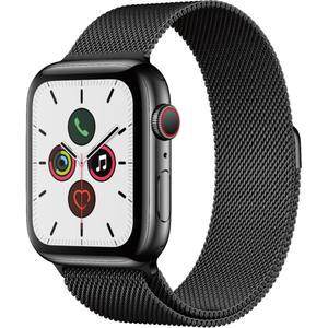 Apple Watch Series 5 (GPS + Cellular) 44mm Space Black Stainless Steel Case with Space Black Milanese Loop