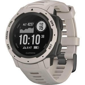 Garmin - Instinct Smartwatch Fiber-Reinforced Polymer - Tundra with Tundra Silicone Band