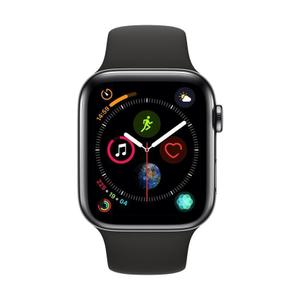 Apple Watch (Series 4) 44mm - Space Black Stainless Steel - Black Sport Band