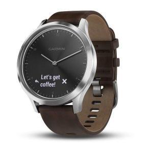 Garmin Smart Watch Vivomove HR GPS - Dark Brown Leather