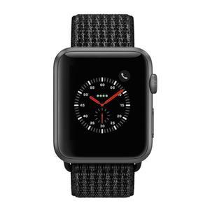 Apple Watch (Series 3) September 2017 42 mm - Stainless steel Space Black - Sport Loop Band Black