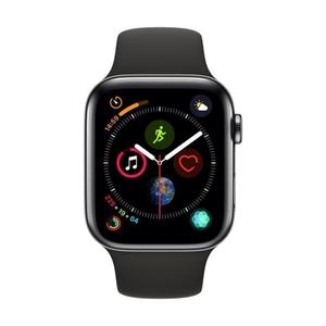 Apple Watch (Series 4) 44mm - Space Black Stainless Steel Case - Black Sport Band