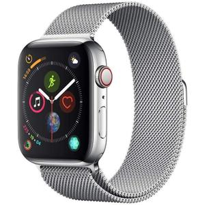Apple Watch Series 4 (GPS+cellular) 44mm Stainless Steel Case & Milanese Loop Band