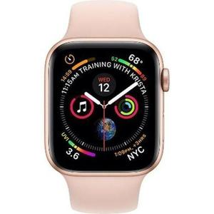 Apple Watch (Series 4) 40mm (GPS + Cellular) - Stainless Steel Gold - Pink Sport Band