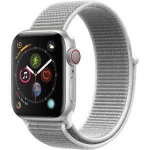 Apple Watch - Series 4 - 40mm - Cellular - Silver Aluminum/Seashell Sport Loop