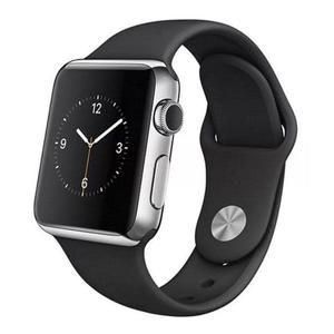 Apple Watch Series 2 38mm Stainless Steel Silver - Black Silicone Sport Band