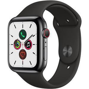 Apple Watch (Series 5) 44mm - Space Grey Stainless Steel - Black Sport Loop