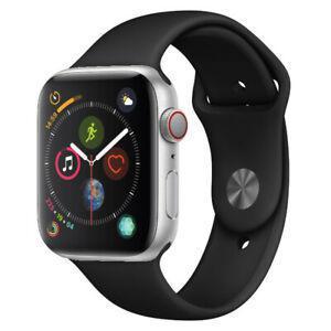 Apple Watch (Series 4) 40mm - GPS + Cellular - Silver Aluminium Case - Black Sport Band