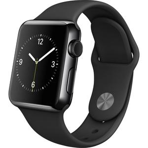 Apple Watch Series 2 42mm Space Black Stainless Steel Case - Black Sport Band