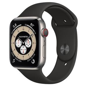 Apple Watch (Series 5) September 2019 44 mm - Titanium Silver - Sport Band Black