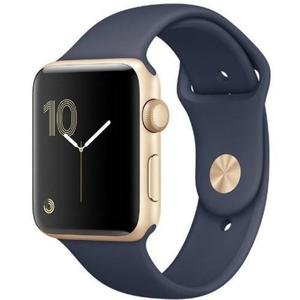 Apple Watch Series 2 38mm Gold Aluminum Case Midnight Blue Sport Band